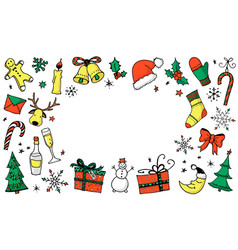 Christmas cartoon background with place for your vector