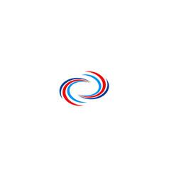 circle infinity logo vector image