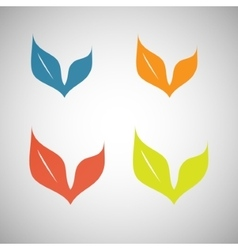 colored leaves on a white background vector image