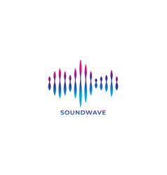Colorful liquid spectrum audio signal blue vector