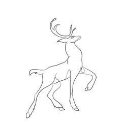 deer running lines vector image