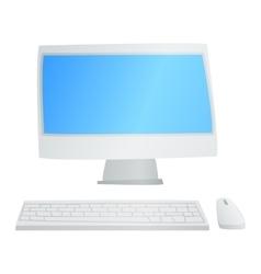 Desktop computer isolated vector image