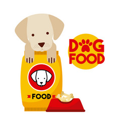 Dog food delicious vector