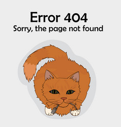 Error 404 page not available cat broke the cord vector
