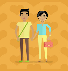 European man and woman caucasian family couple vector