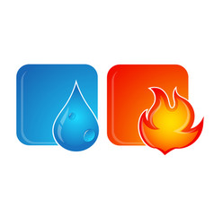 fire and water vector image