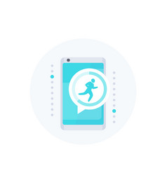 Fitness app notification activity tracker icon vector