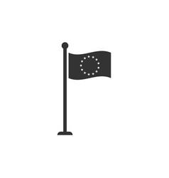 flag european union icon isolated eu circle vector image