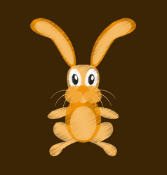 Flat shading style icon toy hare vector