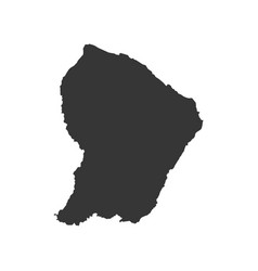 French guiana map silhouette vector