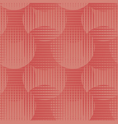 Geometric seamless motif shades of coral color vector