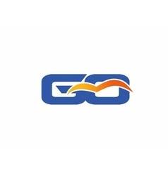 GO letter logo vector