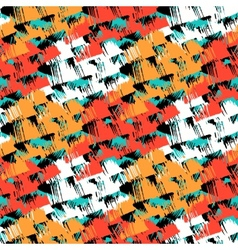 Grunge hand painted abstract pattern vector