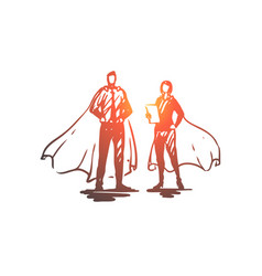 hero network social male woman concept vector image