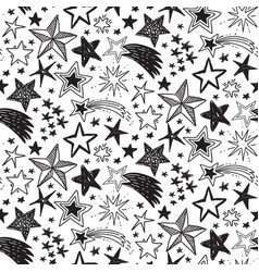 holiday seamless pattern with hand drawn vector image