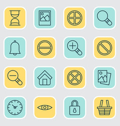 Icons set collection of glance image landscape vector