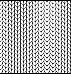 knitting pattern texture seamless vector image