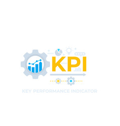 kpi key performance indicator vector image