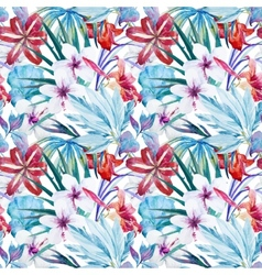 Lily an hibiscus flower pattern vector