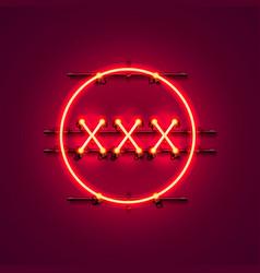 Neon banner xxx text vector