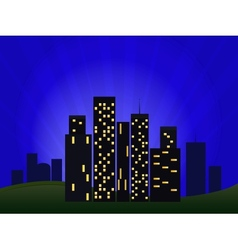 Of night cityscape vector