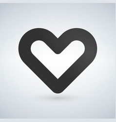 outline heart icon isolated on white background vector image