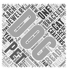 pet jewelry Word Cloud Concept vector image