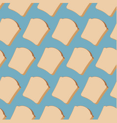 piece bread seamless pattern food texture vector image