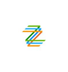 Pixel letter z logo icon design vector