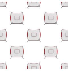 Protective fencingbaseball single icon in cartoon vector