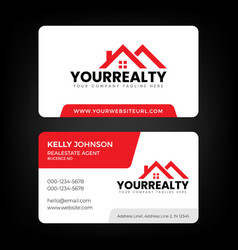 Real estate business card and logo template vector