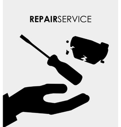 repair service vector image