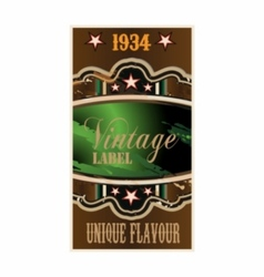 Retro vintage label vector