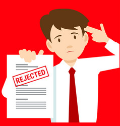 Sad man and rejected the application vector