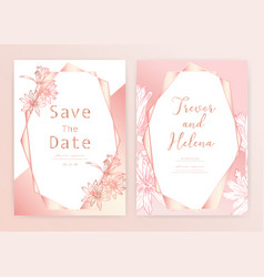 save date wedding card vector image