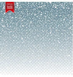 snow with snowflakes winter blue background vector image