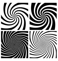 Spiral whirlpool background set vector