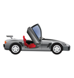 Sports car convertible vector