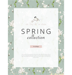 spring sale advertising banner template sticker vector image