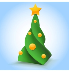 Stylish Christmas tree with toys vector