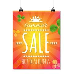Summer Sale Banner With Sunburst vector