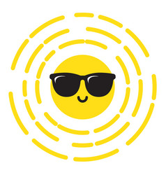 sunshine with sunglasses smiling vector image