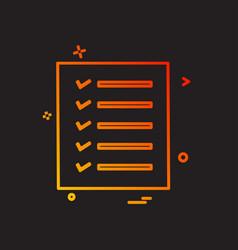 todo list icon design vector image