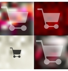 Trolley icon on blurred background vector