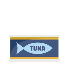 Tuna tin can icon flat style vector