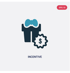 Two color incentive icon from user interface vector