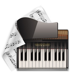 Vector grand piano xxl icon vector