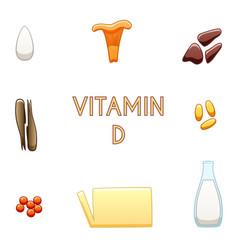 Vitamin d products vector
