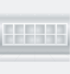white furniture cells vector image
