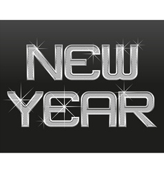 word new year 01 vector image